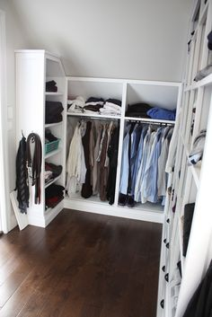 Closet layout for attic space!