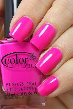 grape fizz nails: Color Club Raspberry Rush