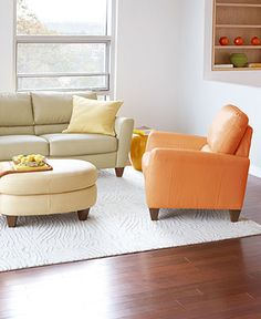 alessia leather sofa living room furniture collection at macy's