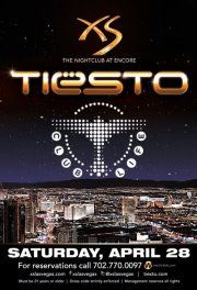 Tiesto at XS Las VegasTiesto will be at XS Nightclub on Saturday, April 28th. Skip the line by getting a Table Reservation email table.resos@xslasvegas.com or purchasing your tickets now at http://xs.wantickets.com/Events/103857/Tiesto-at-XS-Las-Vegas/