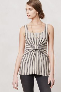 Ruled & Knotted Tank - Anthropologie.com I'd like to try a knock off of this