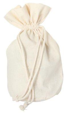 Baumwollsäckchen mit Boden, klein, Zur Aufbewahrung, praktisch, 16,5 x 12,5 cm günstiges Werbegeschenk