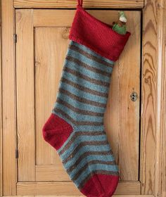 Basic Christmas Stocking - Lamb's Pride Striped Version – Churchmouse Yarns & Teas