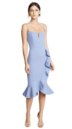 Kollette - Nicholas Bandage Frill Wrap Dress - The world's largest fashion stores in one place! Kollette - Nicholas Bandage Frill Wrap Dress - The world's largest fashion stores in one place! Dress Outfits, Casual Dresses, Short Dresses, Fashion Dresses, Formal Dresses, Wrap Dresses, Wrap Dress Formal, Light Blue Dresses, Dress Cuts