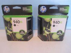 2 HP 940XL Black Ink Cartridge Officejet Pro 8000 8500 8500A C4906AN  #HP