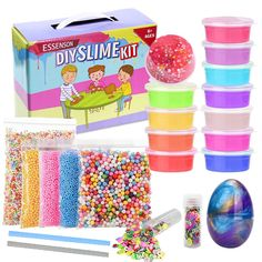 Slime Kit Supplies Make Your Own Clear Crystal Foam Glitter Making For Girls Boy Foam Slime, Slime Kit, Diy Slime, Crystal Clear Slime, Glitter Slime, Toy Craft, Creative Kids, Toys For Girls, Ideas Party