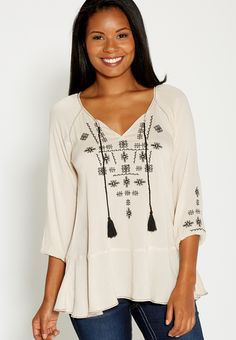 boho peasant top wit
