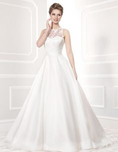 If you're looking for a gorgeously feminine wedding dress with modern embellishments, take a look at the latest 2014 collection from Ellis Bridal. Simple Elegant Wedding Dress, Stunning Wedding Dresses, Bridal Wedding Dresses, Designer Wedding Dresses, Bridal Style, Wedding Bells, Wedding Bride, Bridal Collection, Dress Collection