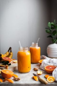 Pineapple Orange Banana Juice + Vanilla & Turmeric - The Kitchen McCabe