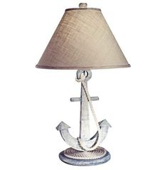 lamps plus, weathered anchor nautical table lamp Nautical Office, Nautical Lamps, Nautical Table, Nautical Bedroom, Nautical Home, Anchor Bedroom, Nautical Knots, Nautical Design, Beach Cottage Style