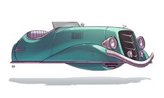 """a collection of cars from """"ze future"""""""