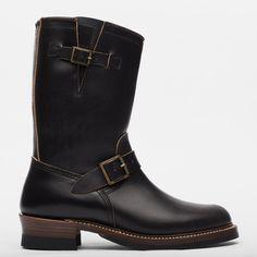 John Lofgren Engineer Boots - Black Horween CXL - Standard & Strange Red Wing Boots, Black Boots, Fashion Boots, Mens Fashion, Engineer Boots, Shoe Collection, Engineering, Footwear, Pairs
