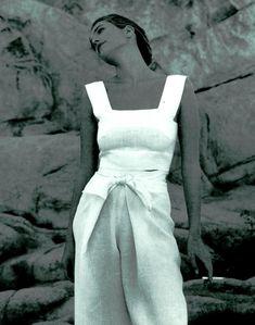 Tatjana Patitz by Fabrizio Ferri - Alberta Ferretti S/S 1990