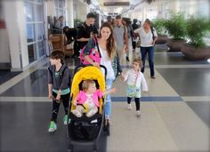 Stroller Review: Mamas & Papas Armadillo - Stroller in the City at the airport