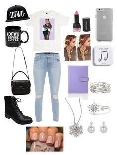 """""""IDFWU"""" by darrionne-r-adams ❤ liked on Polyvore featuring beauty, J Brand, Lodis, Case-Mate, Theory, Pieces, Adriana Orsini, Bamboo and Kate Spade"""