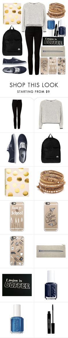 """""""Back to School Outfit: Cold Weather"""" by kdfashiondesigner ❤ liked on Polyvore featuring Alexander Wang, Topshop, Vans, Quiksilver, Sugar Paper, Chan Luu, Casetify, Thomaspaul, Essie and Lord & Berry"""