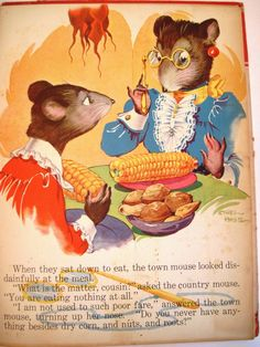 1942 'The Town Mouse and the Country Mouse' Illustrated by Ethel Hays