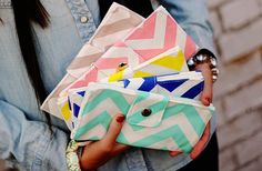 Chevron wallets. I want the blue one