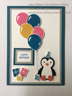 1st Christmas, Christmas Cards, Bridge Card, Stepper Cards, 1st Birthday Cards, Penguin Party, Happy Wishes, Diy Notebook, New Baby Cards