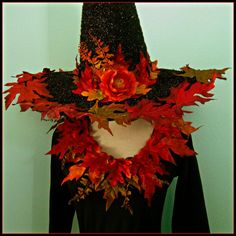 Halloween Witch Hat and Matching Leotard - adult size XXL - Fall Glitzy Witchy