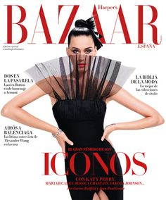 Portada septiembre 2015 de Harper's Bazaar España con Katy Perry.