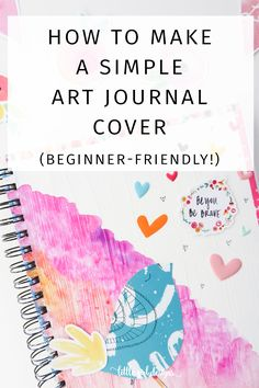 Learn how to make a simple art journal cover using DaySpring's Illustrated Faith line. This is such a simple art-journaling project and is perfect for a beginner. Art Journal Pages, Art Journaling, Art Journal Covers, Stencils, Origami 3d, Arte Sketchbook, Sketchbook Cover, Sketchbook Ideas, Gif Disney