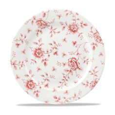 Cranberry Rose Chintz Plate   Churchill 1795 http://www.foodcaredirect.com/crockery/churchill/super-vitrified/vintage-print.html