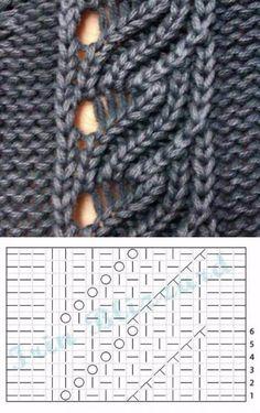 Lace Knitting Stitches, Lace Knitting Patterns, Knitting Charts, Lace Patterns, Knitting Designs, Knitting Yarn, Free Knitting, Knitting Ideas, Diy Crafts Crochet