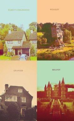 The many homes in Harry Potter