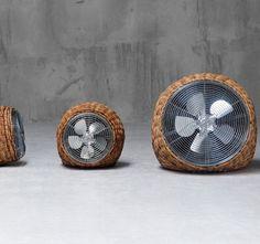WIND Ventilator aus Rattan vertreibt die Hitze In & Outdoor