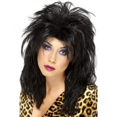 You can buy a Smiffy's Popstar Wig for costume parties from the Halloween Spot. Complete your costume in parties with this black Long Tousled Mullet Wig. Disco Fancy Dress, 1980s Fancy Dress, Fancy Dress Wigs, Costume Wigs, Costume Dress, Disco Costume, Marvel Dc, Mullet Wig, Mardi Gras