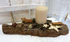 NATUR ♥Wald-Elch♥ Adventsgesteck Skandinavien-Stil von ♥♥ kranzkunst ♥♥ auf DaWanda.com: