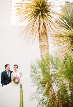 Wedding Portrait, Palm Springs Elopement | Photo by Birds of a Feather
