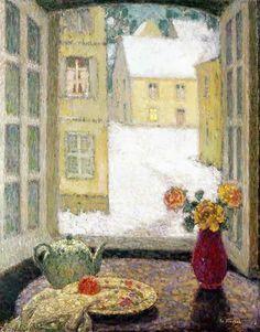 Henri Le Sidaner, Tavolo davanti alla finestra, 1937