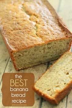 The BEST Banana Bread Recipe EVER!! So good and so easy.