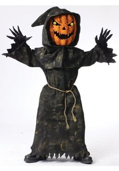 awesome Bobble Head Pumpkin Ghoul Kids Costume