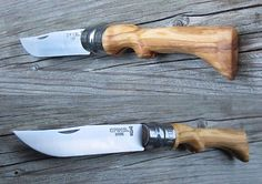 """Opinel knife (No. (""""rifle with bayonet look"""" olive wood handle)"""