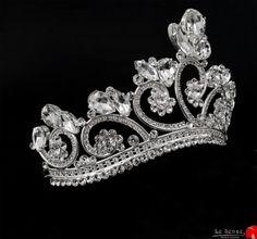 Unique handmade tiaras for wedding , princess tiara crown , crystal silver tiara…