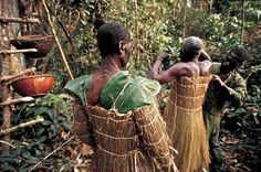 Leaf shoulderpads from the traditional beekeeping garb of the Gbaya people of Cameroon.
