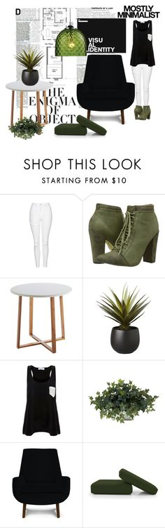 """Green Day"" by orietta-rose on Polyvore featuring interior, interiors, interior design, home, home decor, interior decorating, Topshop, Michael Antonio, Enigma and Serfontaine"