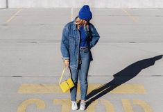 6 Denim-on-Denim Combinations We're Living for Right Now Juicy Tracksuit, Campus Style, Double Denim, Outfit Combinations, Denim Outfit, What To Wear, Womens Fashion, Fashion Trends, Mom Jeans