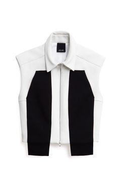 bonded utility vest by josh goot - moda operandi