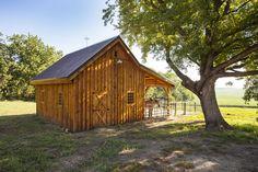 Small Barn for Horses and Hay #WoodHorseBarn