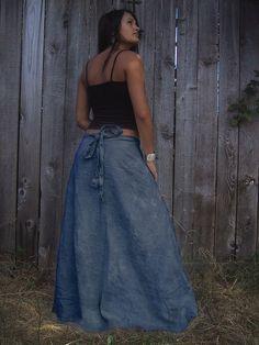 hemp wrap arround skirt, love it!