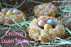 Coconut Easter Nests-simple to make and delicious to eat.