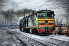 #diesel #gleise #hdr #industry #locomotive #pollution #royalty free #russia #seemed #smoke #steam #track #traffic #train #train driver #transport