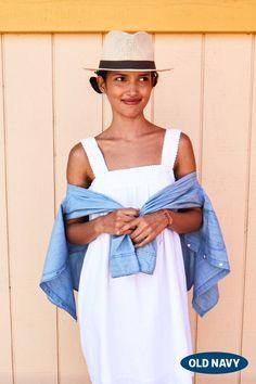 The perfect crisp white dress.
