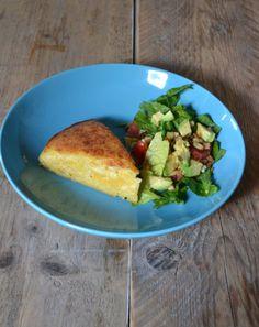 Een heerlijke maistaart, gemaakt van maismeel, kaas en eieren. Lekker met een frisse groene salade! Let op: de volgende dag nog lekkerder!