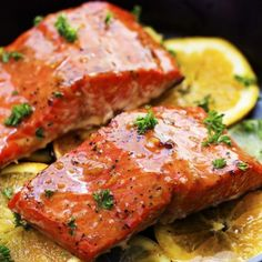 A tangy five star salmon recipe that gets infused with a lemon, lime and orange marinade and grills to tender and flaky perfection