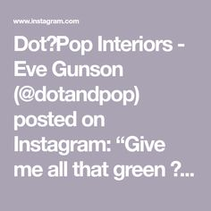 "Dot➕Pop Interiors - Eve Gunson (@dotandpop) posted on Instagram: ""Give me all that green 🦚  This stunning home of @becjudd  @thestyleschool  Designed by @biasoldesign  Build @themelbournebuilder  Floors…"" • Jul 21, 2020 at 10:47am UTC Office Spaces, Floors, Give It To Me, Dots, Interiors, Green, Instagram, Design, Home Tiles"
